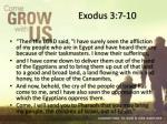 exodus 3 7 10