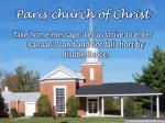 paris church of christ1