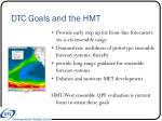 dtc goals and the hmt