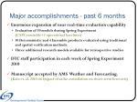 major accomplishments past 6 months1