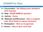 champs for class