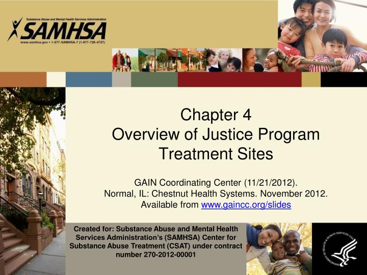 chapter 4 overview of justice program treatment sites n.