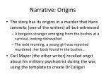 narrative origins