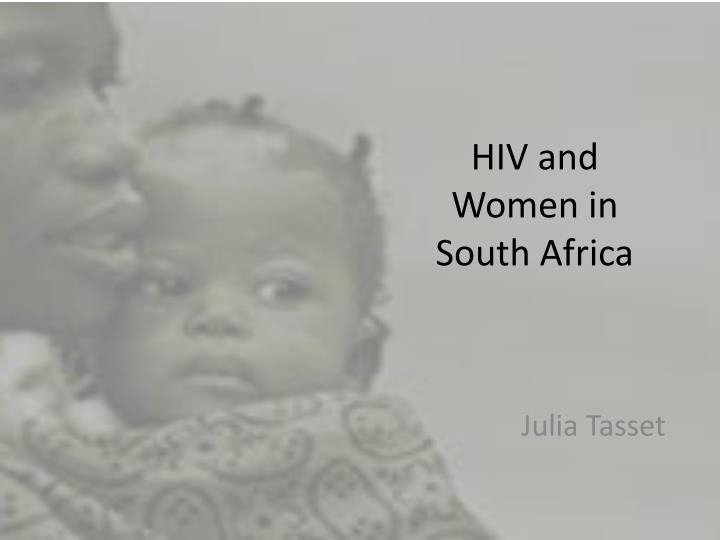 hiv and women in south africa n.