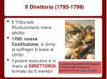 il direttorio 1795 1799