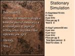 stationary simulation