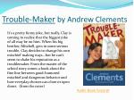 trouble maker by andrew clements1