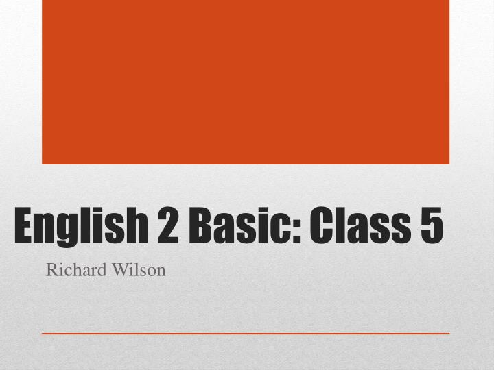 english 2 basic class 5 n.
