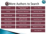 more authors to search