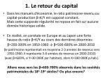 1 le retour du capital