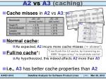 a2 vs a3 caching