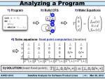 analyzing a program