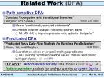 related work dfa