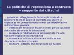 le politiche di repressione e contrasto suggerite dai cittadini