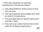 2 why were aqueducts an important development in the roman empire