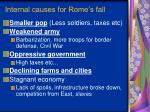 internal causes for rome s fall