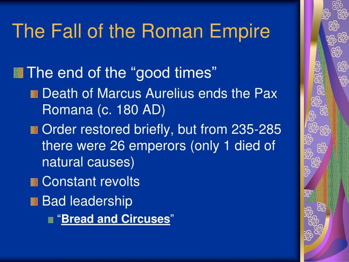 the fall of the roman empire n.