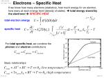 electrons specific heat