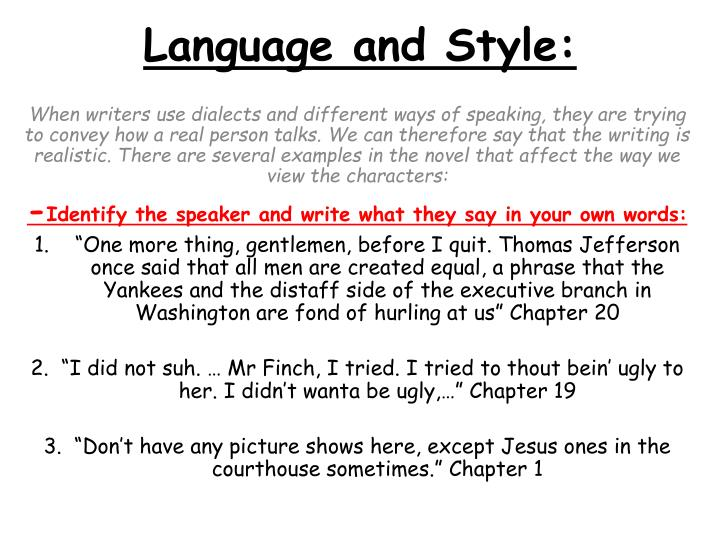 language and style n.