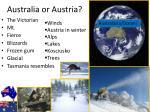 australia or austria