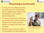 mozambique continued