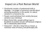 impact on a post roman world