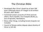 the christian bible