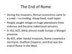 the end of rome