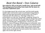 beat the band don calame