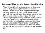 tomorrow when the war began john marsden