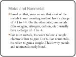 metal and nonmetal