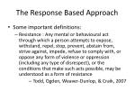 the response based approach3