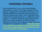 cathedral football