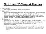 unit 1 and 2 general themes