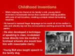 childhood inventions