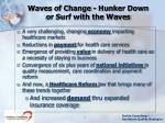 waves of change hunker down or surf with the waves