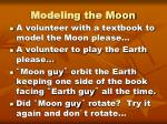 modeling the moon