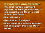 revolution and rotation