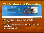 the umbra and penumbra