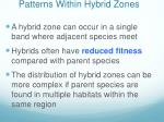 patterns within hybrid zones