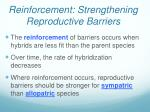 reinforcement strengthening reproductive barriers