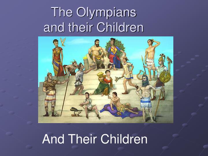 the olympians and their children n.