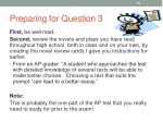 preparing for question 3