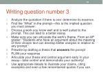 writing question number 3