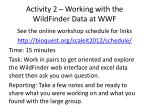 activity 2 working with the wildfinder data at wwf1