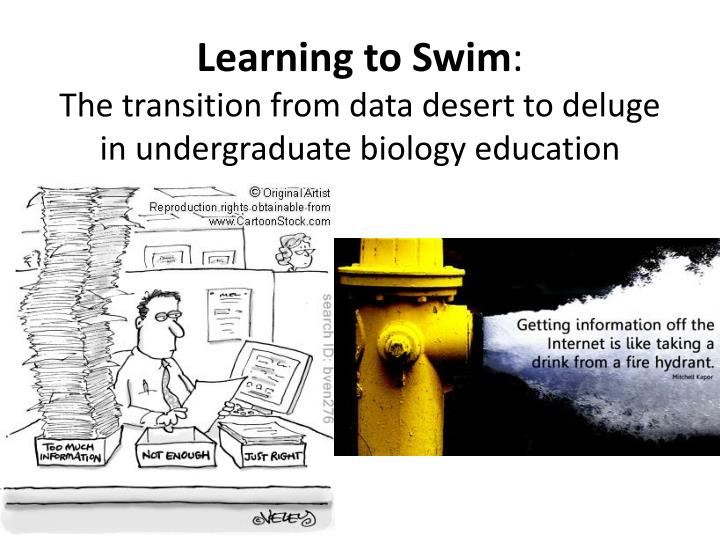 learning to swim the transition from data desert to deluge in undergraduate biology education n.