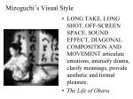 mizoguchi s visual style