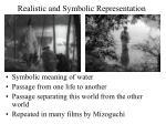 realistic and symbolic representation