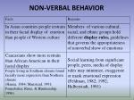 non verbal behavior1