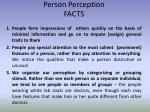 person perception facts